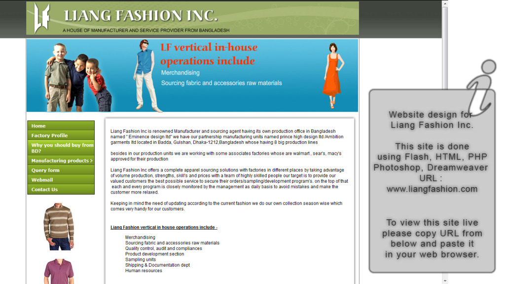 Liang Fashion Inc.
